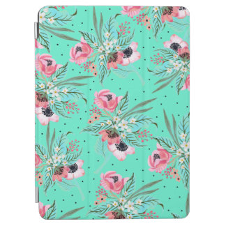 Colorful Summer Flowers Teal iPad Air Cover