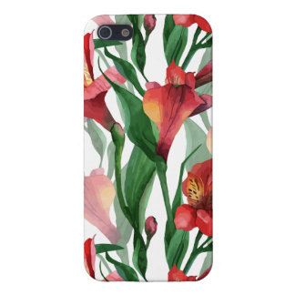 Colorful Summer Lily Watercolors Illustration iPhone 5 Cases