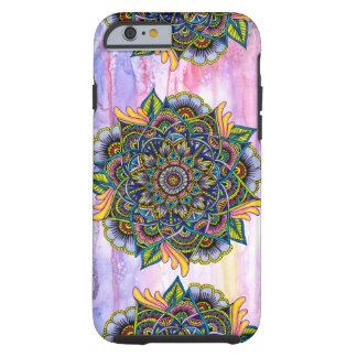 Colorful Summer Mandala w/ Watercolor Backdrop Tough iPhone 6 Case