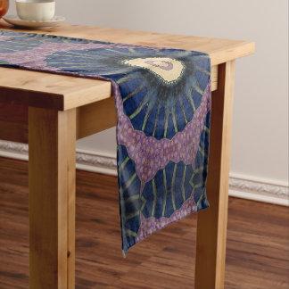 Colorful Sunburst Mandala-Style Table Runner.