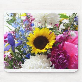 Colorful Sunflower bouquet Mouse Mat