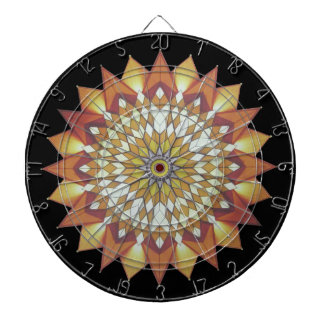 Colorful, sunny, Chinese pattern Dartboard