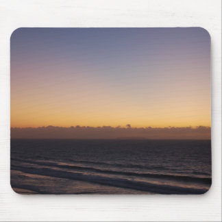 Colorful sunset on Praia del Rey, Portugal Mouse Pads
