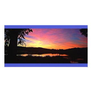 Colorful Sunset Panoramic Photo Card