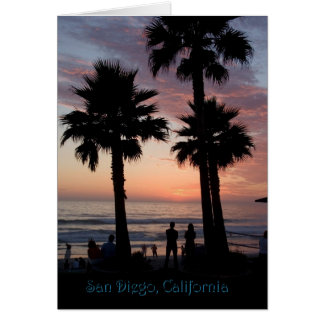 Colorful sunset, San Diego, CA Greeting Card