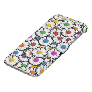 Colorful super-imposed daisies in various colors. iPhone 6 plus case