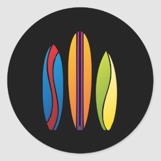Colorful Surfboards Stickers
