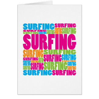 Colorful Surfing Card