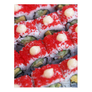 Colorful sushi for sale postcard