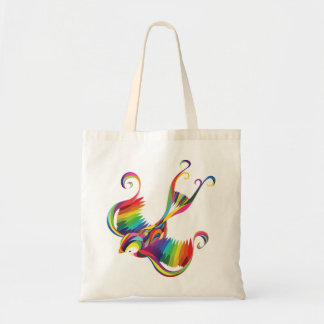 Colorful Swallow Tote Budget Tote Bag