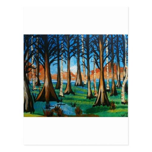 Colorful Swamp Post Card