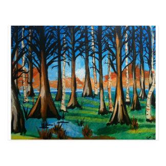 Colorful Swamp Postcard