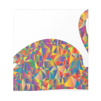 colorful swan notepad