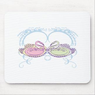Colorful Swans Mousepad