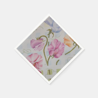 COLORFUL SWEET PEAS PAPER NAPKINS DISPOSABLE NAPKIN