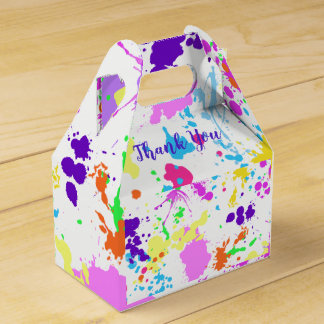 Colorful, Sweet Sixteen, Bat Mitzvah, Thank You, Favour Box