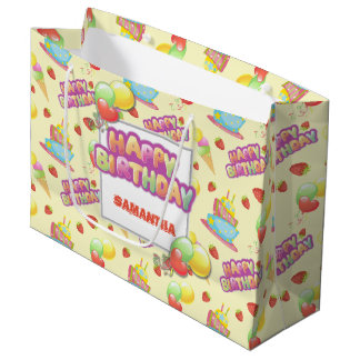 Colorful Sweets Birthday Large Gift Bag