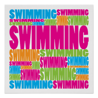 Colorful Swimming Poster