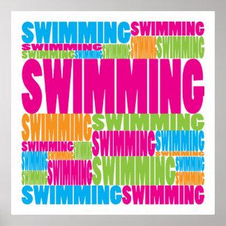 Colorful Swimming Print