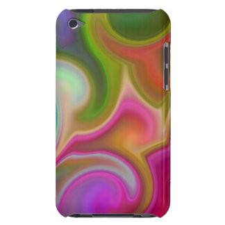 Colorful Swirl Abstract Barely There iPod Case