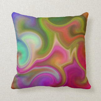 Colorful Swirl Abstract Cushion