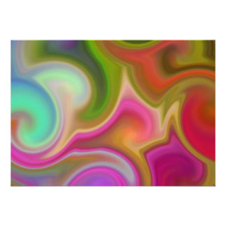 Colorful Swirl Abstract Custom Invite