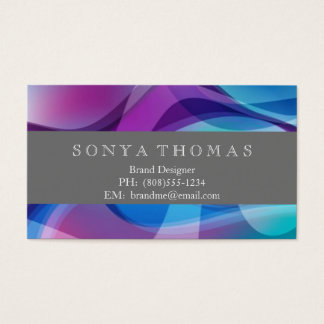 Colorful Swirl Business Card