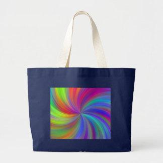 colorful swirl large tote bag