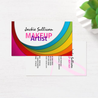 Colorful Swirl Makeup Artist Business Card