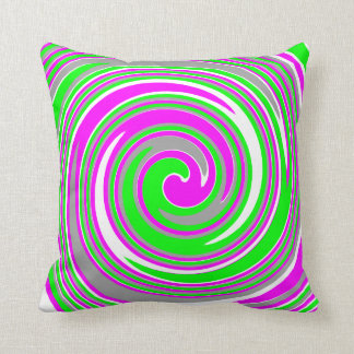 Colorful swirl pattern cushion