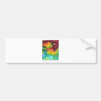 Colorful Swirls Bumper Sticker