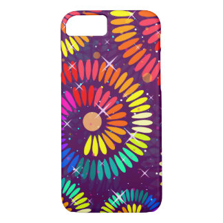 Colorful Swirls Curls Abstract Art iPhone 7 Case