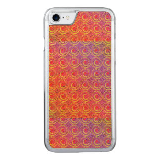 Colorful Swirls Pattern Carved iPhone 8/7 Case