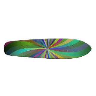 Colorful swirls 18.1 cm old school skateboard deck