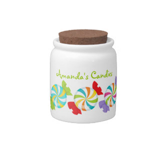 Colorful Swirly Personalized Candy Dish