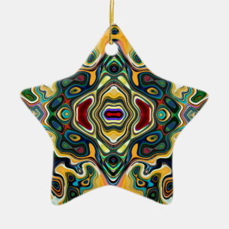 Colorful Symmetric Abstract Christmas Ornament