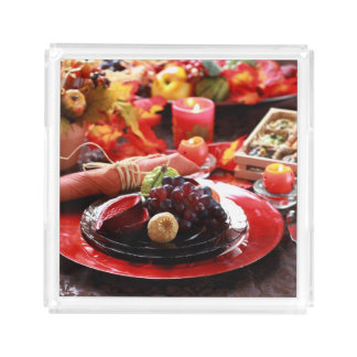 Colorful table decorated for Thanksgiving Acrylic Tray