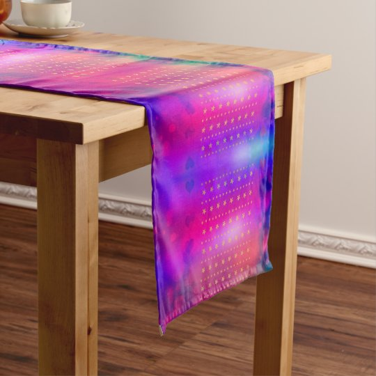 colorful table runner with stars, Xmas