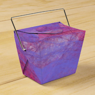 Colorful takeout favor boxes