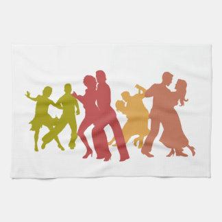 Colorful Tango Dancers Towel