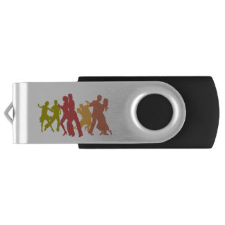 Colorful Tango Dancers USB Flash Drive