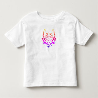 COLORFUL TATTOO WOLF PRINT FOR BOY OR GIRL SHIRT