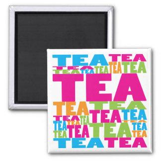 Colorful Tea Square Magnet