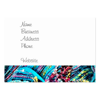 Colorful Teal Turquoise Pink Yarn Threads Craft Pack Of Chubby Business Cards