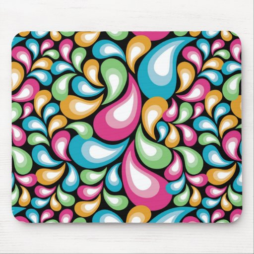 Colorful Teardrops Mouse Pad