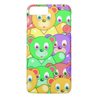 Colorful Teddy Bear Pattern iPhone 7 Plus Case