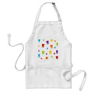 Colorful teeth standard apron