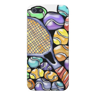 Colorful Tennis Balls and Racquet iPhone 5 Case