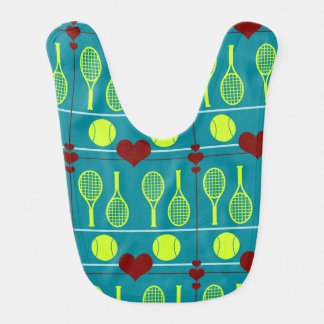 Colorful tennis pattern bib