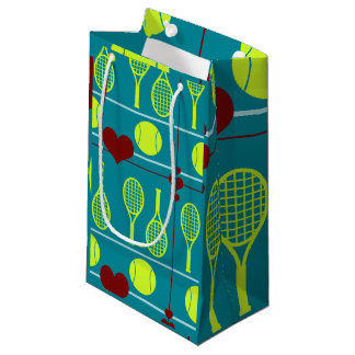 Colorful tennis pattern small gift bag
